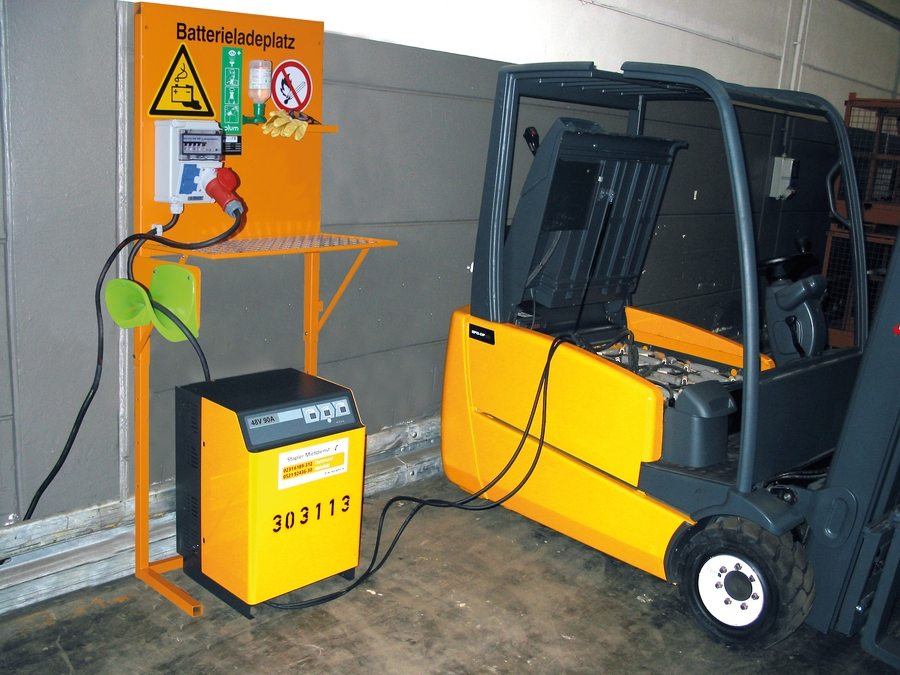 forklift charging station